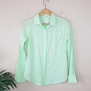 J. Crew | The Perfect Shirt Seersuckered Gingham